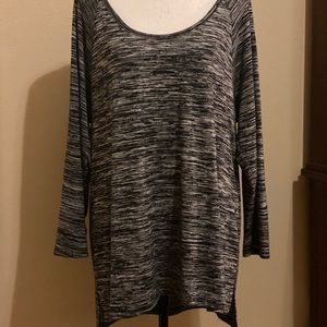 Old Navy Scoop Neck Tunic XL Heathered Grey